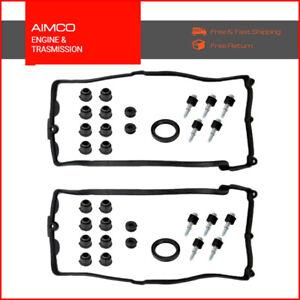 AMC Valve Cover Gasket Set Left Right for BMW 545i 550i 645ci 650i 745i 750i X5