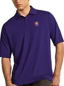 Orlando City SC Antigua MLS Dark Purple Exceed Short Sleeve Polo T-Shirt (2XL)