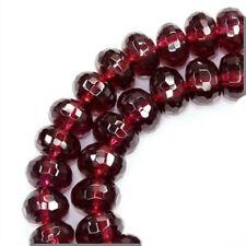 "8"" Red Rhodonite Garnet Faceted Rondelle Beads 6mm 86ct #67081"