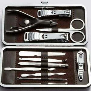 12pcs Manicure Set Nail Care Kit Clipper Grooming Earpick Pedicure kit Men Women