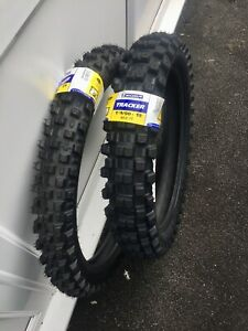 "Michelin Tracker Road Legal Enduro Tyres Pair 21"" 80/100 Front 19"" 100/90 Rear"