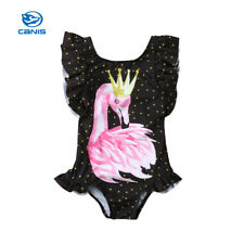Toddler Kids Baby Girls Flamingo Bikini Swimwear Swimsuit Bathing Suit Beachwear