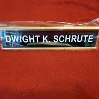 Bam Geek Box Movie Prop The Office  Dwight schrute Desk Nameplate prop replica