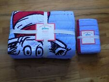 Pottery Barn Kids Dr. Seuss Twin Quilt and Quilted Sham Celebrating 75 Years