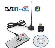 Mini Dvb-T Usb Digital Tv Hdtv Stick Tuner Receiver Dongle Recorder Remote Dvbt