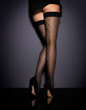 AGENT PROVOCATEUR NYLON FULLY FASIONNED STAR HOLD UPS SIZE XS