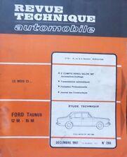 Revue technique FORD TAUNUS 12 M P6 15 M 15 M TS RTA 260 1967