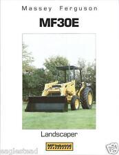 Equipment Brochure - Massey Ferguson - Mf 30E - Landscape Tractor 1986 (E2407)