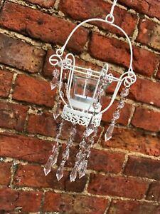 Summer White Garden Outdoor Lantern Style Single Tealight Holder