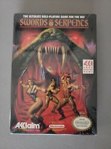 Swords and Serpents Nintendo Nes Factory Sealed Brand New