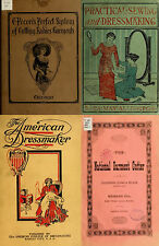 236 RARE OLD BOOKS ON DRESSMAKING TAILORING MEASUREMENTS CUTTING & SEWING ON DVD