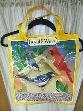 UPCYCLE~CARDINAL~BIRDHOUSE~2 OTHER BIRDS~RECYCLED FEED BAG~GROCERY~MARKET TOTE