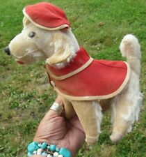 ANTIQUE VINTAGE DOG MOHAIR PUPPY RED COAT HAT TEDDY BEAR FARNELL STEIFF SCHUCO ?