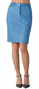 NOORA Women's Skirt Genuine Soft Lambskin Leather Slim fit Skirt SK-1
