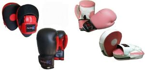 Focus pads and Boxing Gloves set Hook & Jab Mitt Punch Gloves Training MMA Fight