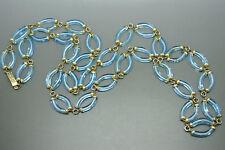 Vintage Archimede Seguso aqua blue glass necklace