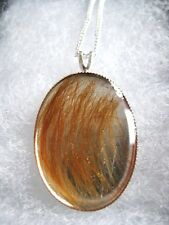 Pet Hair Necklace Sterling Silver Pendant Preserved forever in hand cast resin