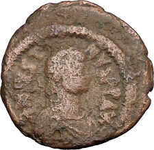 Justin I 518AD Big Authentic  Ancient  Medieval Byzantine Coin Large K  i38910