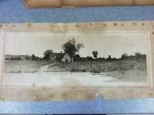 "E L Fields Vintage Original 1890 Radtke & Laucknor Co. Etching ""Evening Shades"""