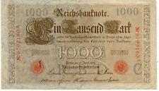 ALLEMAGNE GERMANY 1000 M reichsbanknote 1910 état voir scan 180