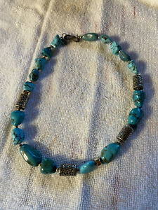 SILPADA N0849 Chunky Turquoise and Sterling Necklace