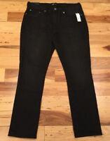 Gap Men's 33 X 32 Black-Wash Skinny Stretch Jeans. Black Denim Pants. Nwt
