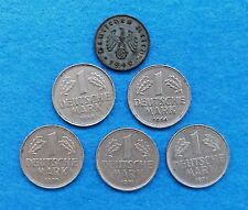 GERMANY - 6 GERMAN COINS - 1940, 1956, 1966, 1970 & 1971