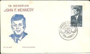 BRAZIL 1964 John F. KENNEDY on RG FDC
