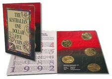 AUSTRALIA • 1992 • $1 • One Dollar Uncirculated Five Coin Set