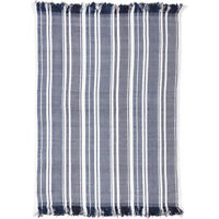 VHC Coastal Sea Throw Blanket Fleece Rayon Couch Sofa Bed Chair Blanket Blue