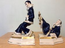 Royal dux Pierrot bookends
