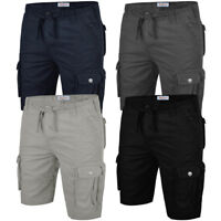 Mens Cargo Shorts Stallion Casual Combat Summer Cotton Chino Work Half Pants New
