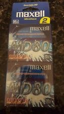 New Sealed 2-Pack Maxell Minidisc Recordable MD 80 Digital