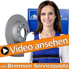 ATE BREMSSCHEIBEN  Ø245 mm VOLL + BREMSBELÄGE HINTEN VW PASSAT 3B 3BG BJ 96-05