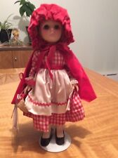 "Vintage  EFFANBEE Little Red Riding Hood Doll w/basket/Tag 11"" 1975"