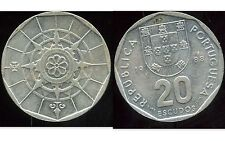 PORTUGAL    20  escudos 1988  ( etat )