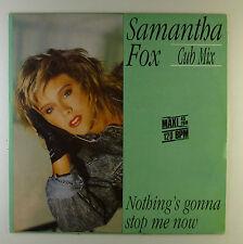 "12"" Maxi - Samantha Fox - Nothing's Gonna Stop Me  - A2761 - RAR! White Vinyl"