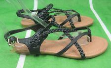 Mujer Verano Nuevo Negro Moda Para Mujer Sandalias Estilo Gladiador Size 6