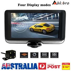 "Car DVR Dash Cam 360° 4.5"" HD Touch Screen 1080P Dual Lens Video Rearview Camera"