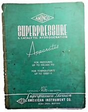 Vintage 1947 Aminco Super Pressure & Catalytic Hydrogenation Apparatus Catalog