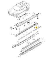 Emblem Trading Nebelscheinwerfer Blende Carbon Optik Passend F/ür E Klasse W213 E43 AMG