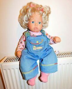 """ZAPF SOFT BODY BLONDE HAIR BABY DOLL - MAX ZAPF - 18"""" Approx - early 2000"""