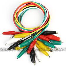 10 X Nuevo Cable Jumper con Pinza Clip Cocodrilo Accesorio Útil 5 Colores 550mm