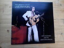 Paul Simon In Concert Live Rhymin Excellent Vinyl LP Record CBS 69059