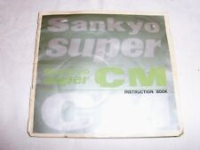 Instructions Cine CAMERA SANKYO super CM super 8 CD/Eail
