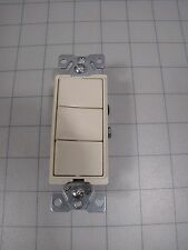 Cooper Triple Rocker Switch Ivory 15A 120-277Vac NEW