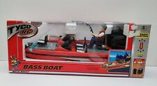 Tyco Rc Bass Boat Fishing Mattel Wheels Radio Control Rechargeable Battery