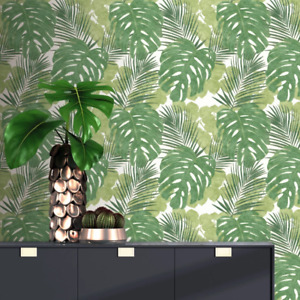 Portfolio Green Jungle Leaf Wallpaper by Rasch 214628