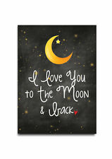Love you to the Moon And back Sign, Retro Sign ,Wooden plaque