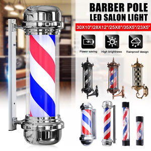 Pro Große klassisch weiß blau Barber Pole Drehen LED DE